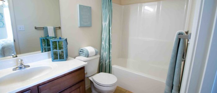Apartment Complex with remodeled bathroom